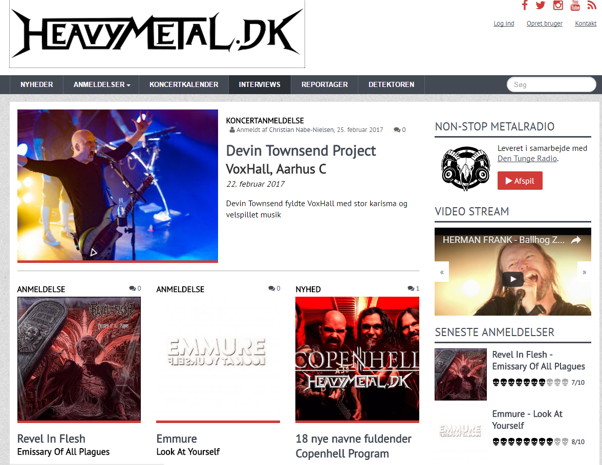 Heavyhjørnet: Metal Anmeldelse